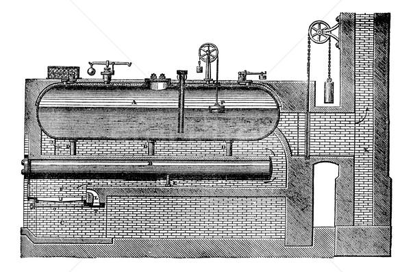 高い 圧力 蒸気 ジェネレータ ヴィンテージ 彫刻 ストックフォト © Morphart