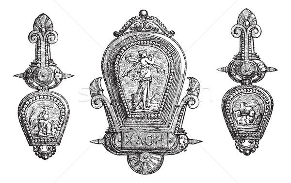 Romaine bijoux allégorie vintage gravure vieux Photo stock © Morphart
