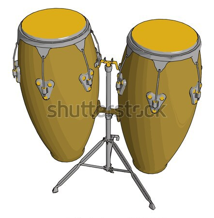 пару барабаны Сток-фото © Morphart