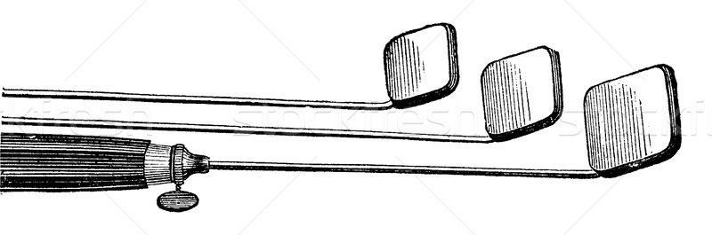 Ağız kullanılmış bağbozumu oyma oyulmuş örnek Stok fotoğraf © Morphart