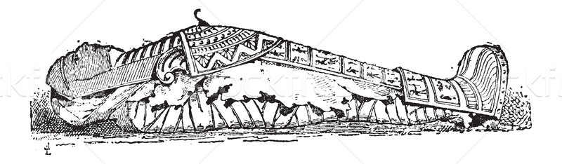 The Sarcophagus of Mummy vintage engraving Stock photo © Morphart
