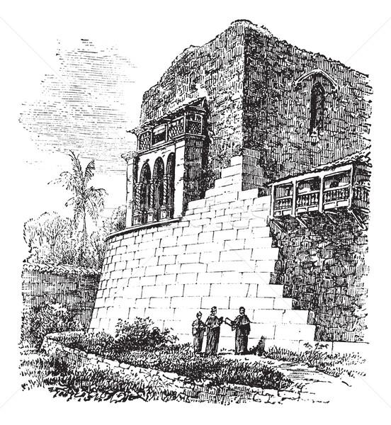 Tapınak güneş Peru bağbozumu oyma eski Stok fotoğraf © Morphart