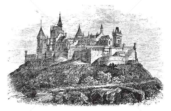 Hohenzollern Castle or Burg Hohenzollern in Stuttgart, Germany v Stock photo © Morphart