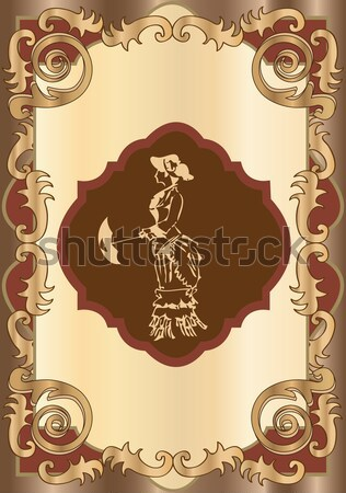 Vintage illustration with woman  Stock photo © Morphart