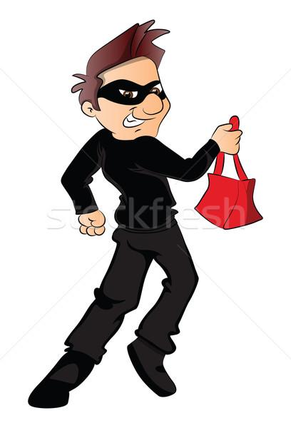 Vector ladrón ejecutando robado bolso máscara Foto stock © Morphart