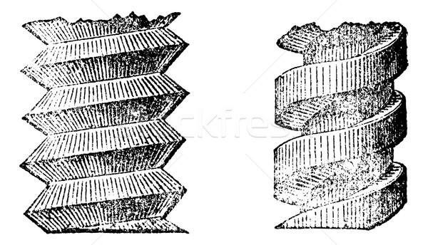 Schraube Jahrgang Gravur graviert Illustration Bau Stock foto © Morphart