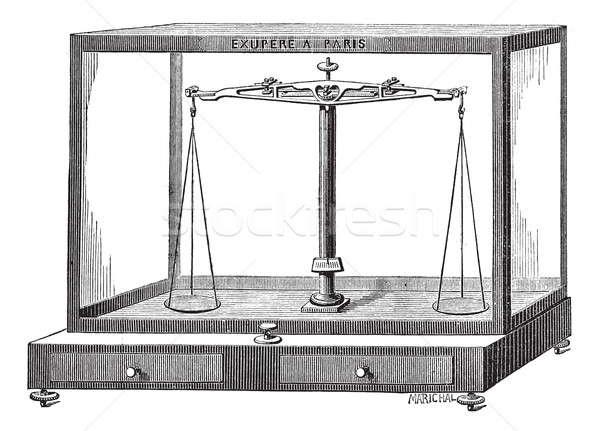 Analytical balance scale vintage engraving   Stock photo © Morphart