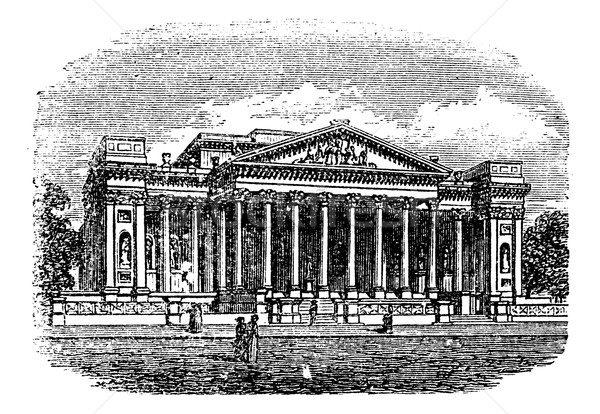 Fitzwilliam, Museum, Cambridge, United Kingdom, vintage engravin Stock photo © Morphart