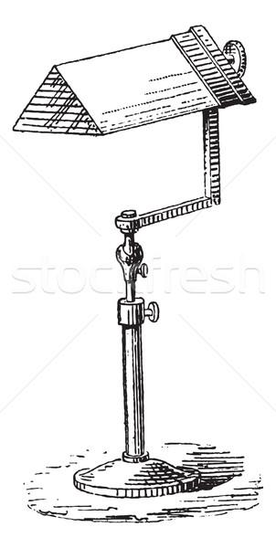 Prizma bağbozumu oyma oyulmuş örnek sözlük Stok fotoğraf © Morphart