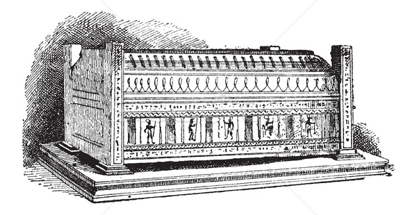 Sarcophagus vintage engraving Stock photo © Morphart