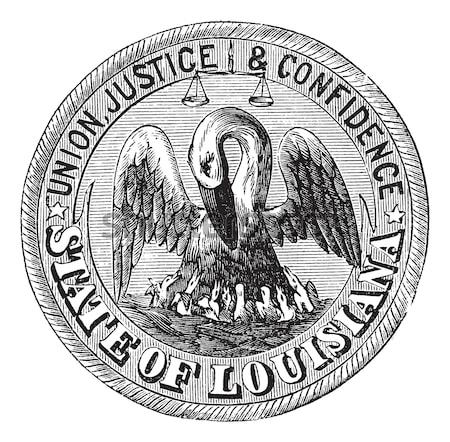 Seal of the State of Mississippi, vintage engraving. Stock photo © Morphart