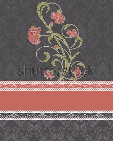 ヴィンテージ ダマスク織 テクスチャ 抽象的な デザイン ストックフォト © Morphart