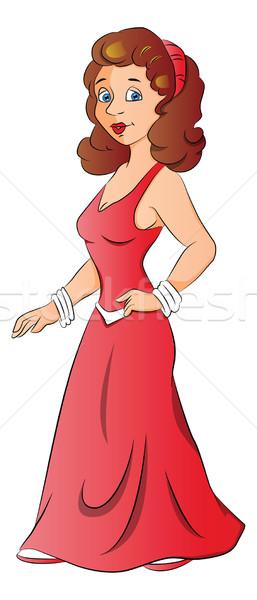 Vector of beautiful young woman. Stock photo © Morphart