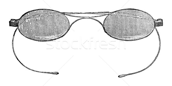 Gafas gancho vintage grabado Foto stock © Morphart