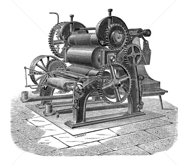 Papír gép három klasszikus vésés gravírozott Stock fotó © Morphart