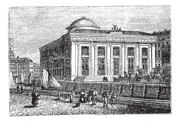 Múzeum Koppenhága Dánia klasszikus vésés öreg Stock fotó © Morphart