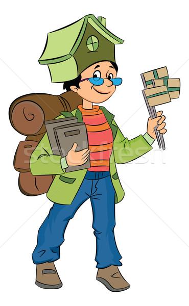 Backpacking Around the World, illustration Stock photo © Morphart