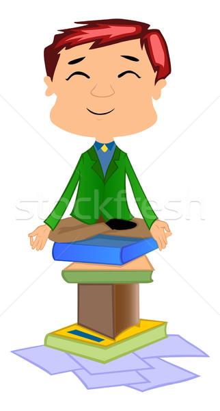 Working Man Doing Meditation, illustration Stock photo © Morphart