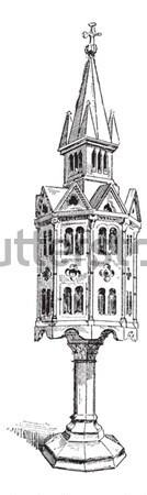 Church tabernacle  vintage engraving Stock photo © Morphart