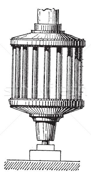 Gépi lámpás klasszikus vésés gravírozott illusztráció Stock fotó © Morphart