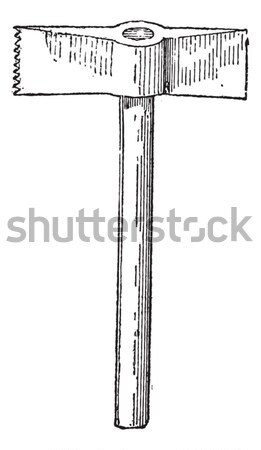 Toothed Chisel-end Hammer, vintage engraving Stock photo © Morphart