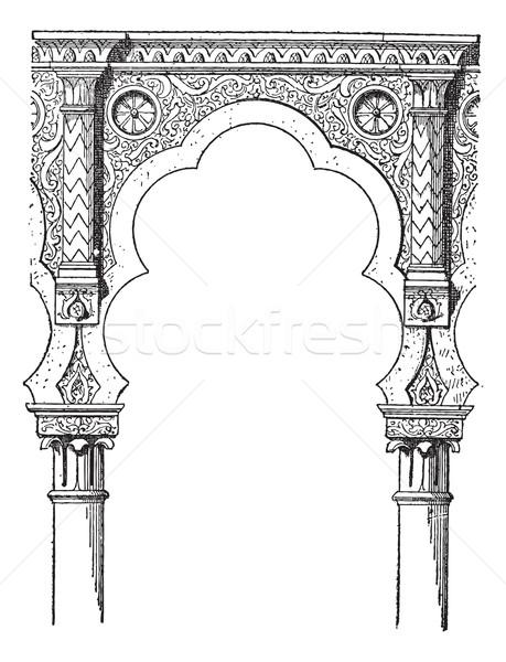 Lobe, vintage engraving Stock photo © Morphart