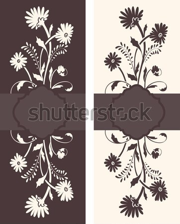 Floral invitation card with place for text  Stock photo © Morphart