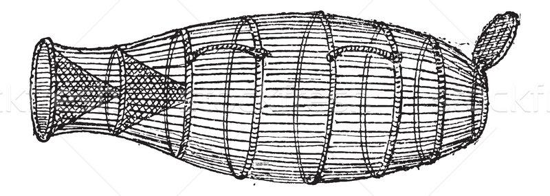 Fish Trap, Basket-type, vintage engraving Stock photo © Morphart
