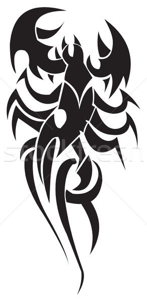 Tattoo design of scorpion, vintage engraving. Stock photo © Morphart