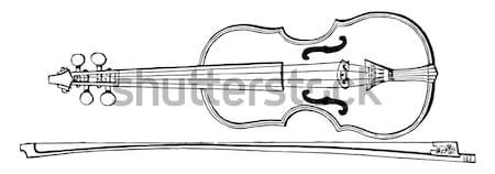 Arquebus or Hook tube vintage engraving Stock photo © Morphart