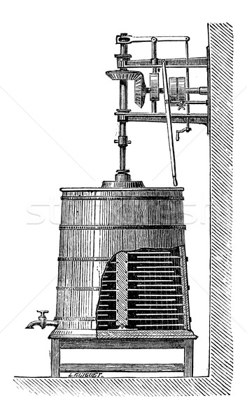 Clyburn Steam-driven Butter Churn, vintage engraving Stock photo © Morphart