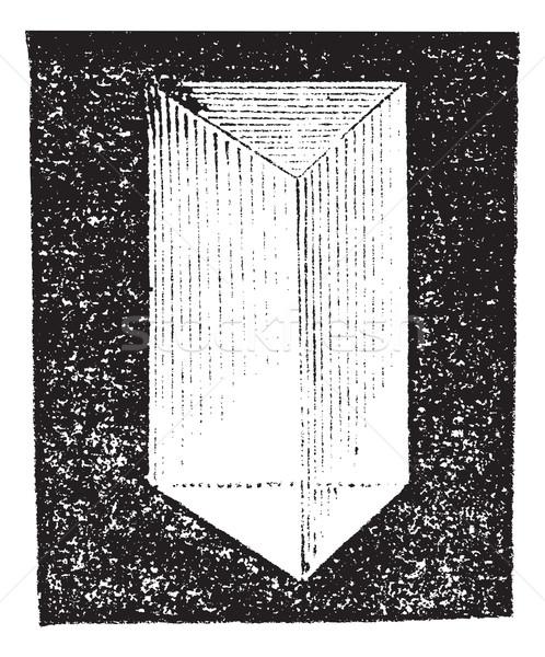 Ottico prisma vintage vecchio inciso Foto d'archivio © Morphart