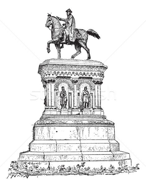 ストックフォト: 像 · ベルギー · ヴィンテージ · 彫刻 · 刻ま · 実例