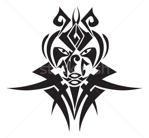Törzsi tetoválás terv klasszikus vésés gravírozott Stock fotó © Morphart