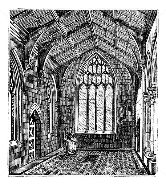Cotton Chapel, Saint Botolph's Church vintage engraving Stock photo © Morphart