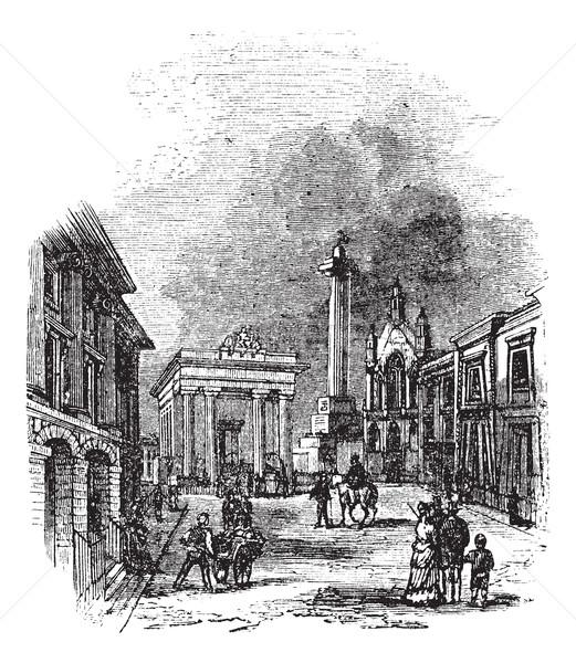 Anglia Egyesült Királyság klasszikus vésés öreg gravírozott Stock fotó © Morphart
