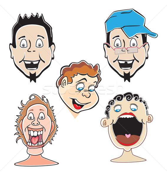 Laughing guys, illustration Stock photo © Morphart