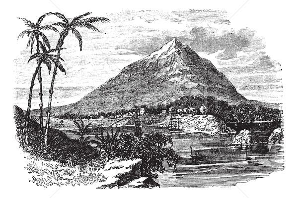 Pico Basile in Bioko Island, Republic of Equatorial Guinea, vint Stock photo © Morphart