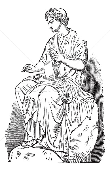 Calliope, Muse of Epic Poetry, vintage engraved illustration Stock photo © Morphart