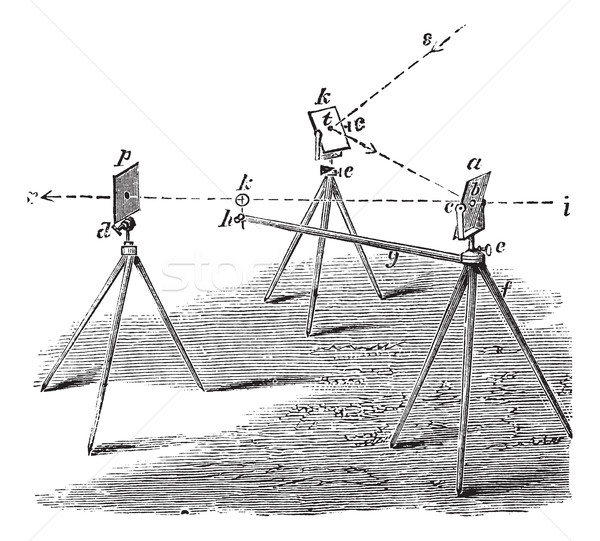 Heliograph vintage engraving Stock photo © Morphart