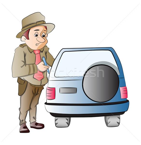 Highway Patrol, illustration Stock photo © Morphart