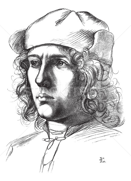 Galerii Florencja portret rysunek vintage wyryty Zdjęcia stock © Morphart