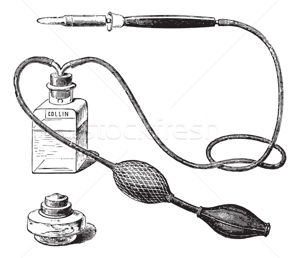 Thermo-cautery, vintage engraving. Stock photo © Morphart
