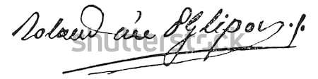 Signature of Victor de Riquetti or Marquis de Mirabeau (1715-178 Stock photo © Morphart