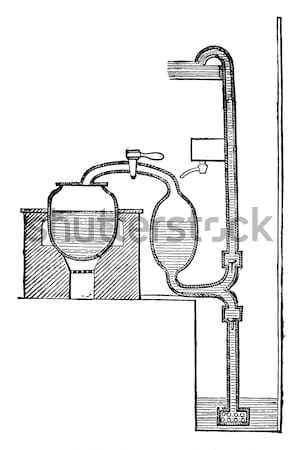 Pulley, Gun Tackle, vintage engraving Stock photo © Morphart