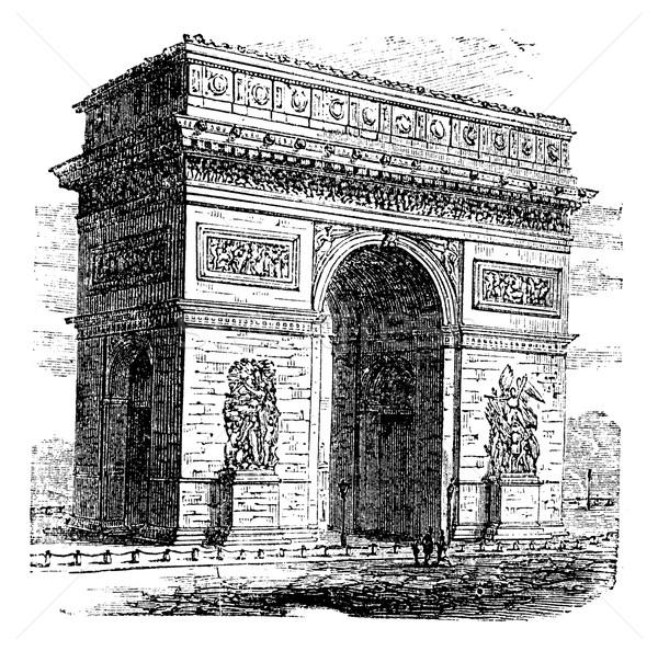 арки Триумфальная арка Париж Франция Vintage Сток-фото © Morphart