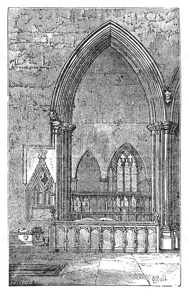 Готский арки аббатство Оксфордшир Англии старые Сток-фото © Morphart
