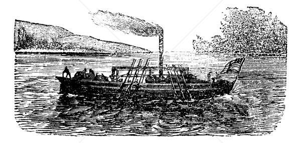 蒸気 ボート 実験 米国 ヴィンテージ 蒸し器 ストックフォト © Morphart