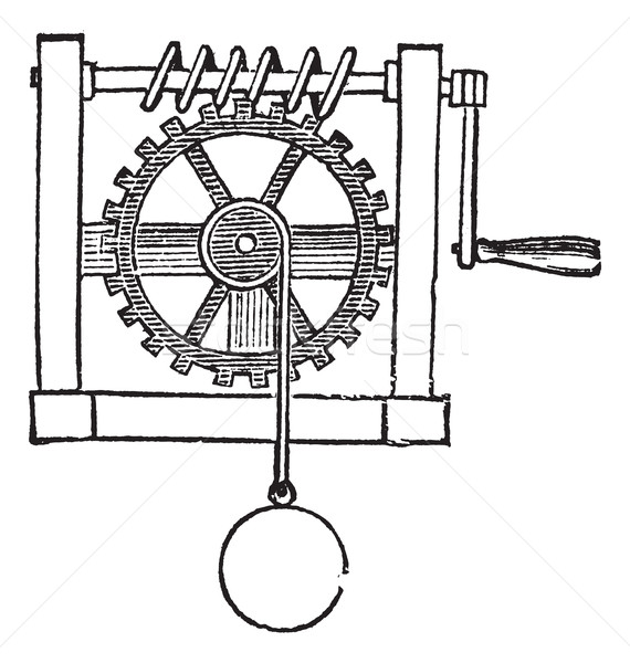 Gears, vintage engraved illustration Stock photo © Morphart