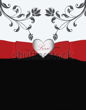 バレンタインデー カード 抽象的な 中心 絵画 赤 ストックフォト © Morphart
